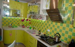Угловая пластиковая кухня UPK-035