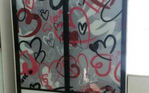 Шкаф-купе с сердечками в детскую SHKD-131