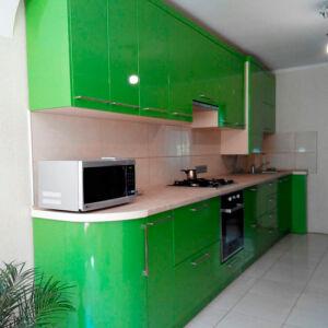 Салатовая кухня из МДФ SK-005