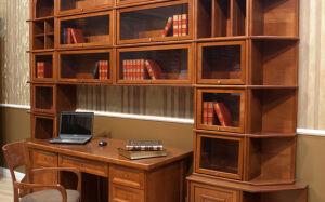 Офисная библиотека в коричневой цвете BO-161