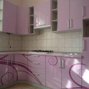 Дизайнерская глянцевая кухня DGK-030