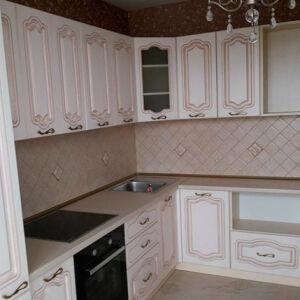 Светлая кухня из массива KM-329