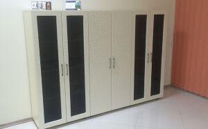 Черно-белый офисный шкаф MK-112