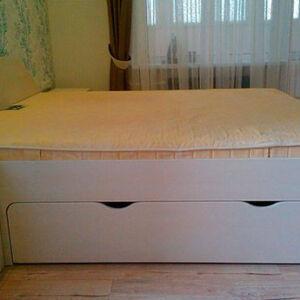 Кровать в спальню с коробом для белья KS-267