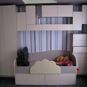 Белая модульная мебель в детскую комнату DMM-168