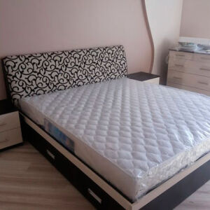 Темная кровать для спальной комнаты KS-266