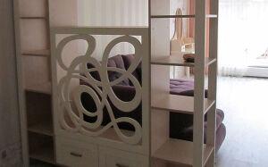 Ажурный шкаф в гостиную SHG-094