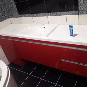 Красная мебель в ванную комнату MV-107