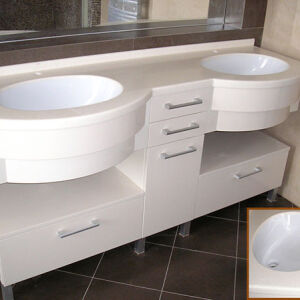 Белая мебель в ванную BMV-059