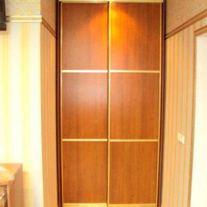 Коричневый классический шкаф-купе KSHK-140