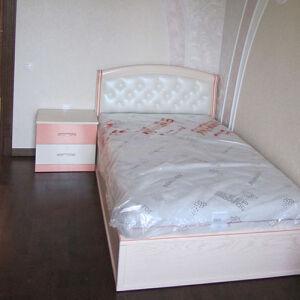 Нежно-розовая кровать в детскую DK-095