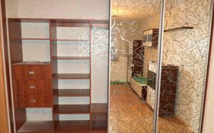 Зеркальный шкаф-купе с фотопечатью SHKF-458