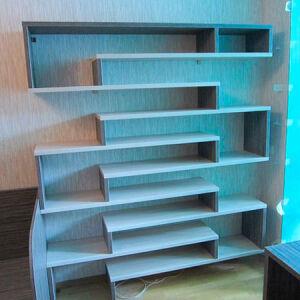 Модульная мебель в гостиную голубого цвета MMG-281
