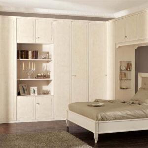 Светлый шкаф в спальню SHS-249