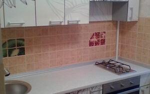 Глянцевая кухня с рисунком KG-459