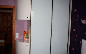 Белый радиусный шкаф-купе RSHK-145