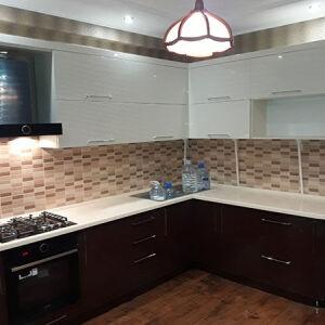 Темная угловая кухня UK-116