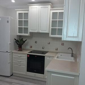 Светлая кухня из МДФ KMDF-414