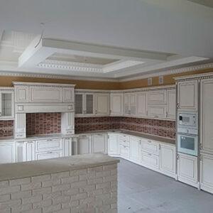 Большая угловая кухня из дерева UKD-001