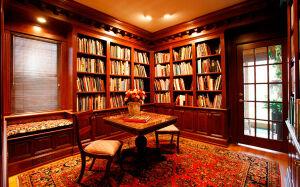 Офисная коричневая библиотека BO-158
