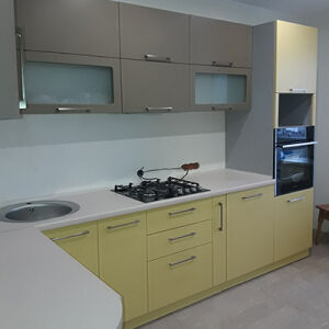 Комбинированная кухня из МДФ KMDF-415