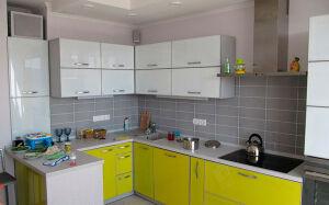 Модульная кухня в светло-салатовых тонах MK-348