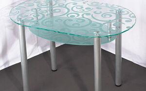 Журнальный стеклянный столик с полочкой ZHSG-157