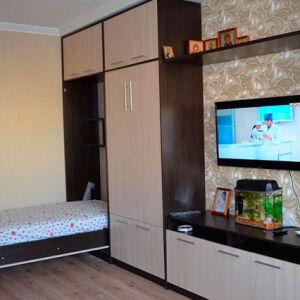 Оригинальная корпусная мебель в гостиную KMG-321