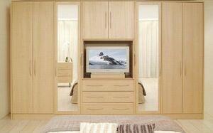 Функциональный шкаф в спальную комнату SHS-250