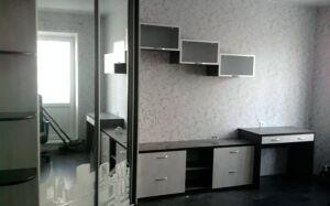 Коричневая корпусная мебель в гостиную KMG-373