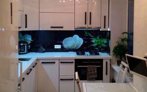 Белая кухня из эмали KE-380