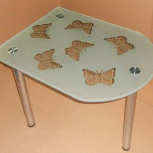 Стеклянный журнальный столик с бабочками ZHSG-155