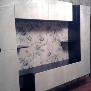 Светлая комбинированная стенка для гостиной SG-377