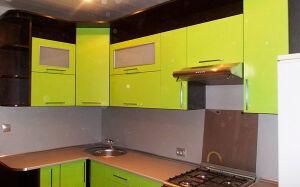 Желтая кухня из пластика KP-337