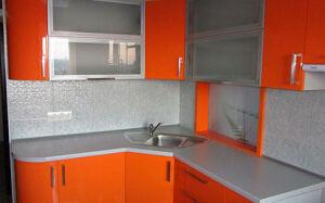 Глянцевая кухня угловая GKU-003
