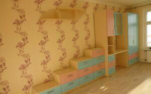Цветная стенка для детской комнаты SD-271