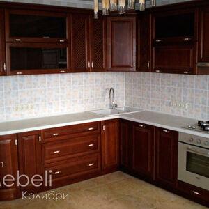 Деревянная кухня с рамочным фасадом KRF-048