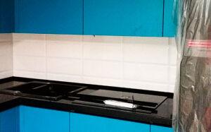 Угловая глянцевая кухня KG-487