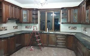Деревянная кухня в классическом стиле KK-418