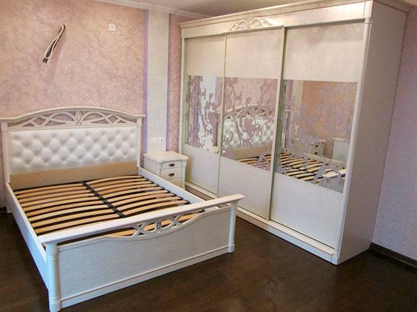 белый шкаф купе в спальню Shks 007 мебель в виннице