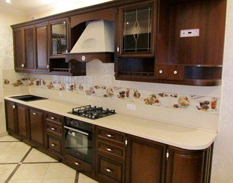Встроенная деревянная кухня VDK-011
