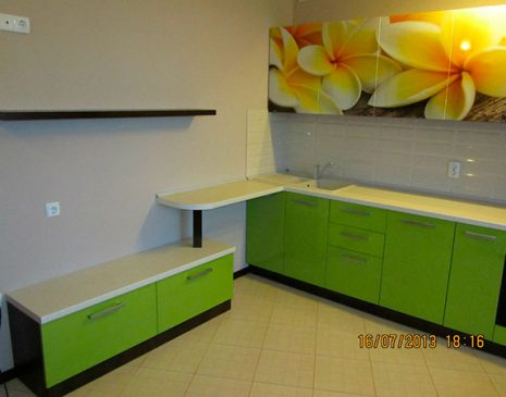 Цветная модульная кухня CMK-017