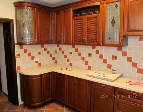 Кухня из массива сосны KMS-023