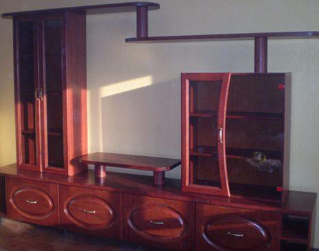 Деревянная стенка в гостиную DSG-078