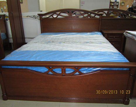 Кровать для спальни из темного дерева KST-086
