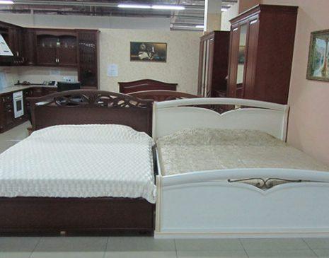 Светлая кровать для спальни KS-087