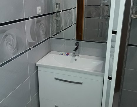 Белая тумба в ванную комнату MV-110