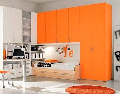 Оранжевая стенка в детскую комнату SD-152