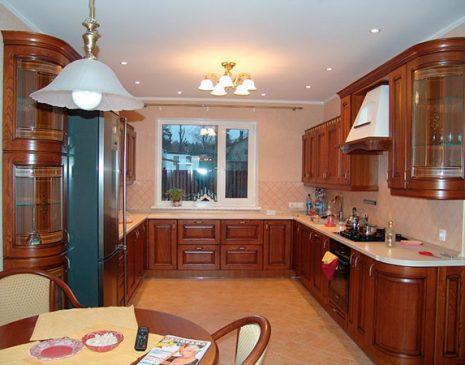 Классическая деревянная кухня KD-192