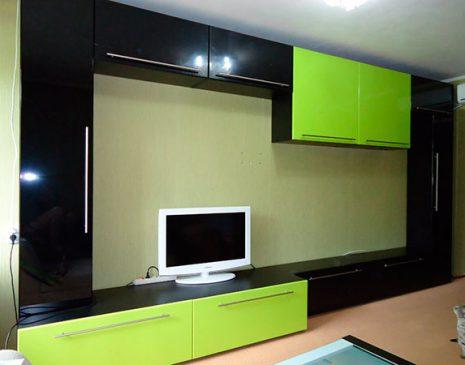 Черно-салатовая гостиная в современном стиле GS-255